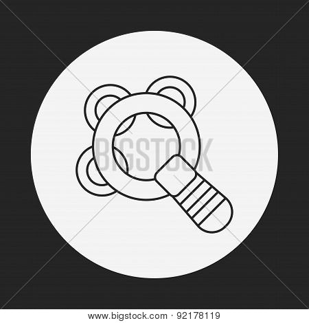 Baby Rattle Line Icon