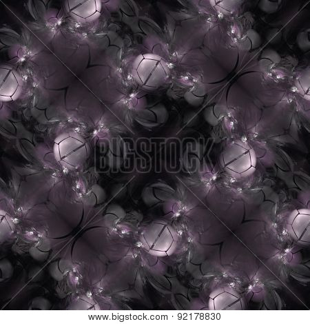Seamless Fractal Background In Violet Spectrum