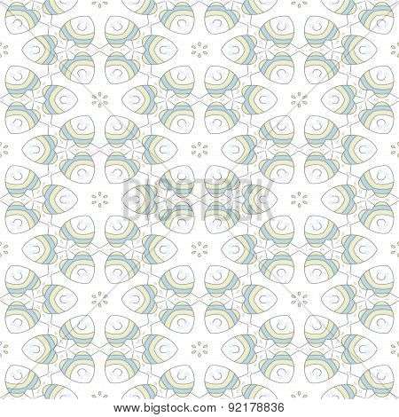 Seamless Ornate Floral Background Or Wallpaper On White