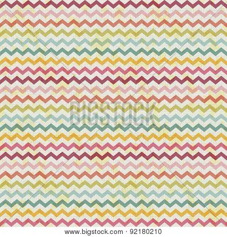 vector retro color vintage popular zigzag chevron pattern