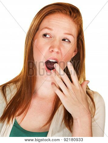 Bored Woman Yawning