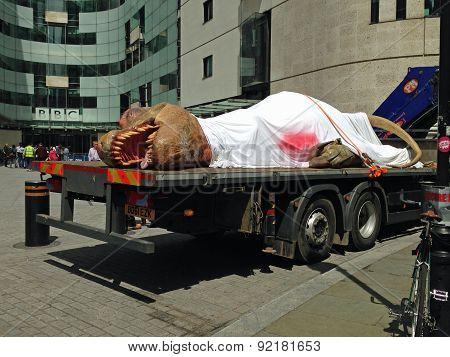 Dinosaur publicity, London