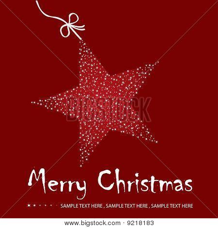 Christmas Postcard Illustration - Raster Version