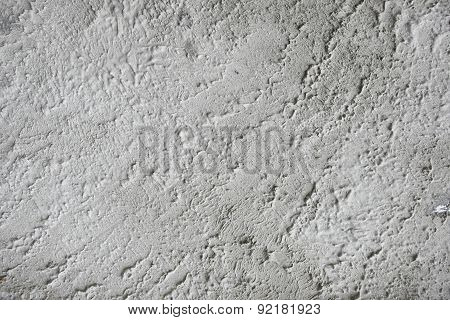 Concrete Background On Coated Stone Wall - Grey Textured Backdrop