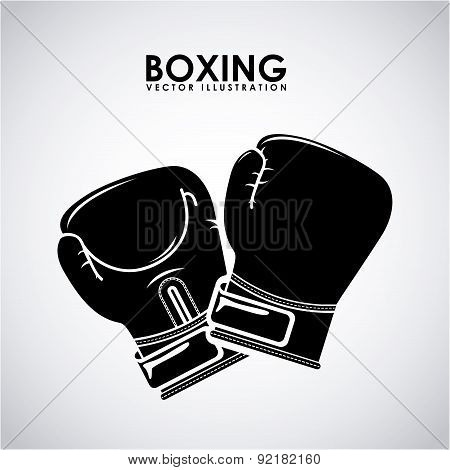 boxing design over gray background vector illustration