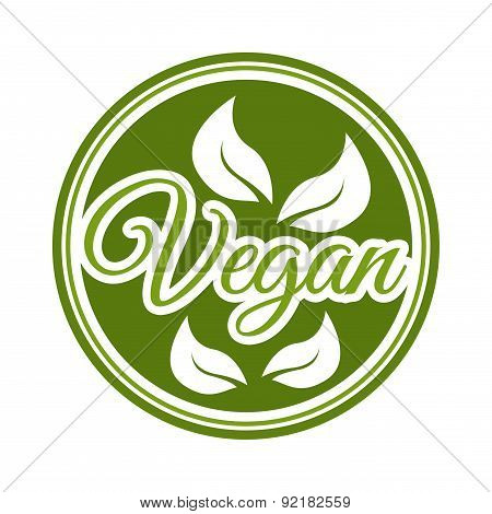 vegan food over white background vector illustration