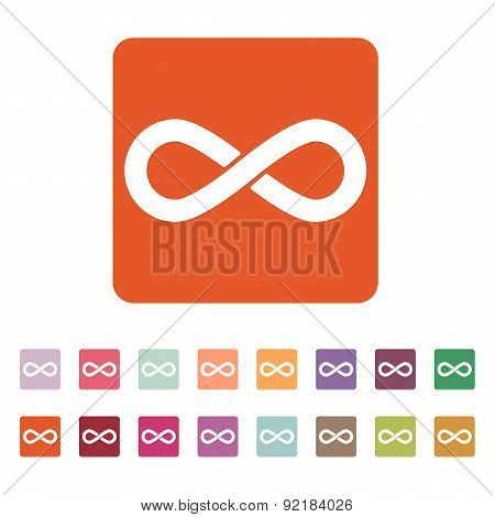 The Infinity Icon. Infinity Symbol. Flat