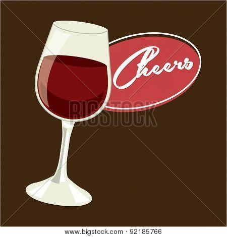 drink design over brown background vector illustration