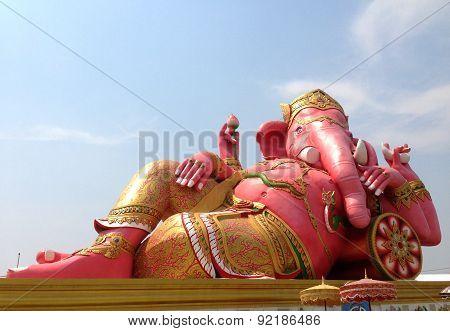 Ganesha statue and Hindu god