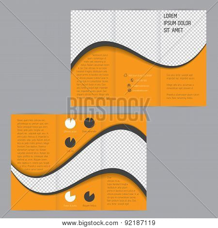 Cool Wave Design Tri-fold Flyer Brochure Template
