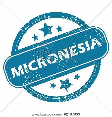MICRONESIA round stamp
