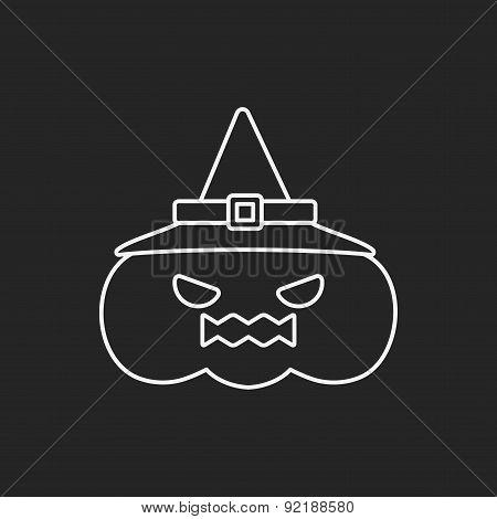 Halloween Pumpkin Line Icon