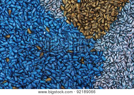 Chemically Treated Sunflower Seed As Background