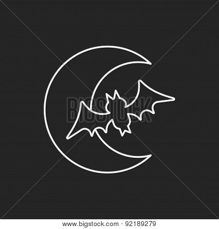 Halloween Moon Line Icon