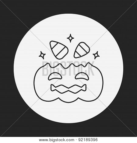 Halloween Candy Line Icon