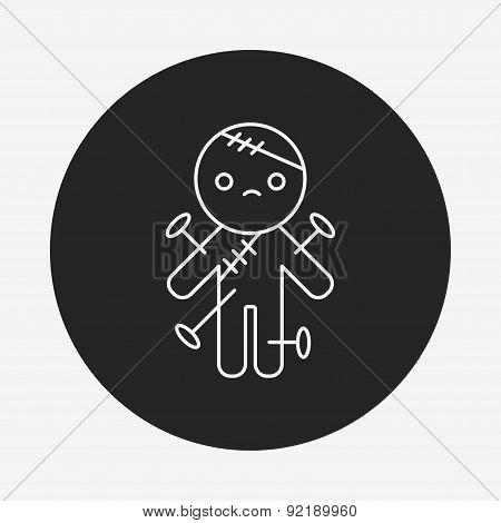 Halloween Monster Line Icon