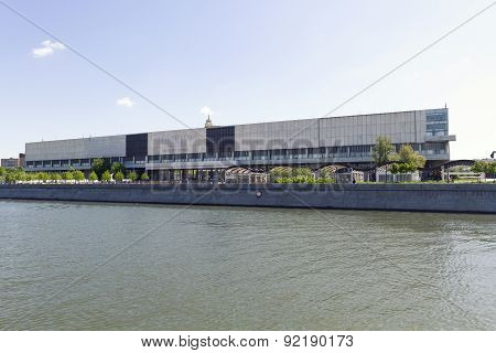 Moscow, Russia - Mai 06, 2015: Facade Of New Tretyakov Gallery On Krymsky Val In Moscow, Russia. Hos