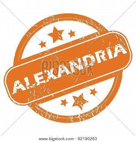 Alexandria round stamp