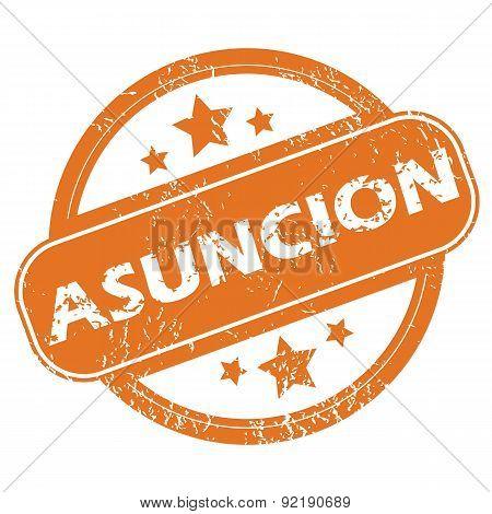 Asuncion round stamp