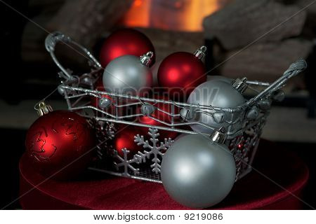 Silver Christmas Basket