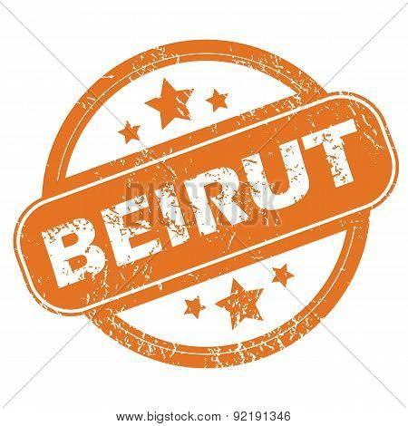 Beirut round stamp