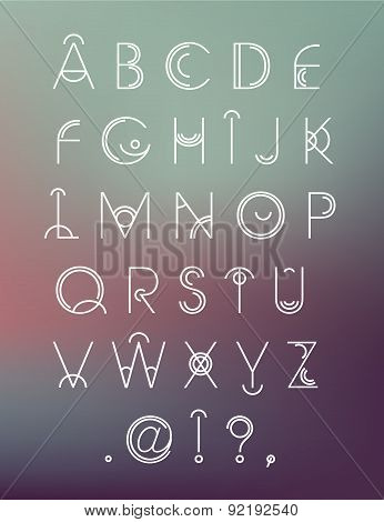 Vector geometric hipster modern creative font, abc
