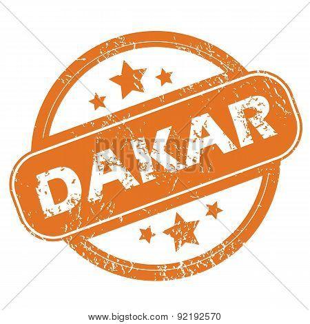 Dakar rubber stamp