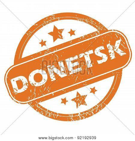Donetsk round stamp