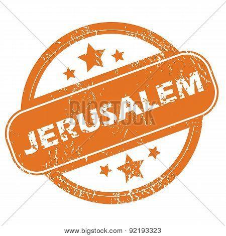 Jerusalem round stamp
