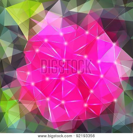 Abstract geometric background with polygons