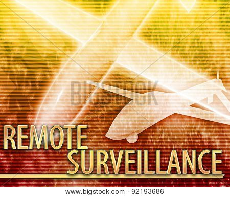 Abstract background digital collage concept illustration remote surveillance drone