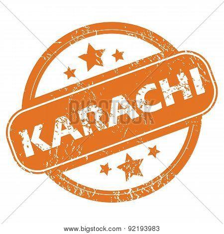 Karachi round stamp