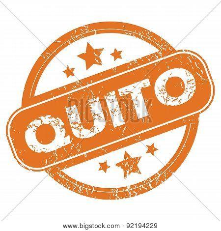 Quito round stamp