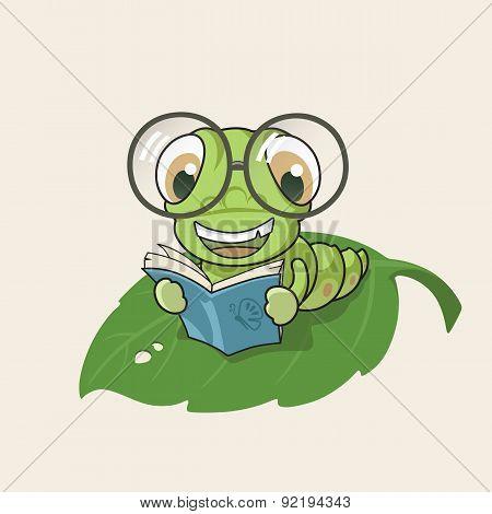 Cartoon Bookworm