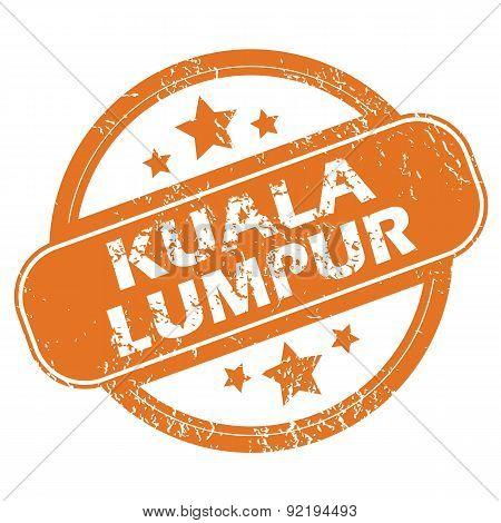 Kuala Lumpur round stamp