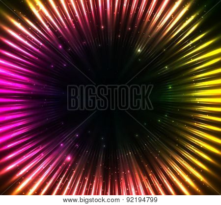 Purple shining cosmic lights abstract background