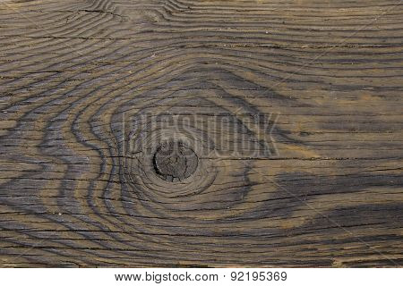 Knothole In Woodgrain