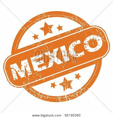 Mexico round stamp