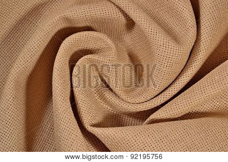 Crumpled  Cotton Canvas For Needlework As Background