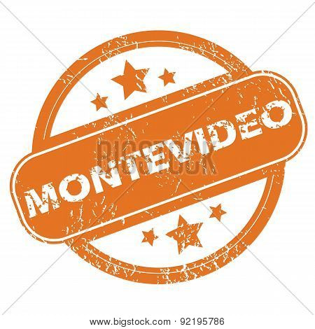 Montevideo round stamp