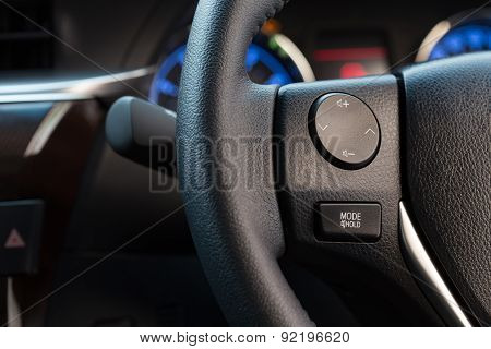 Audio Control Button On Car Steering Wheel