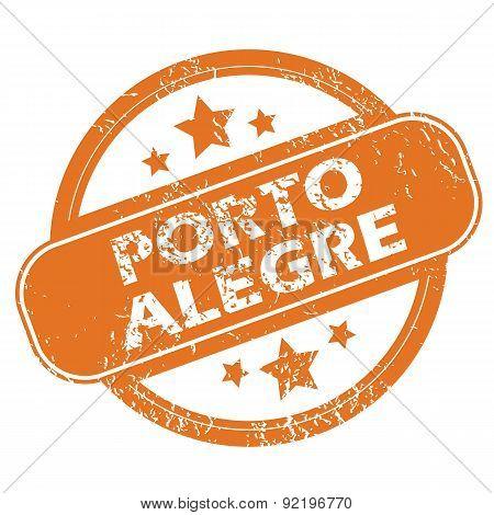 Porto Alegre round stamp