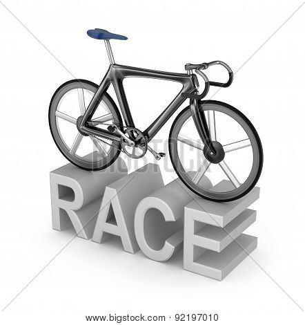 Bicycle Race Icon On White Background