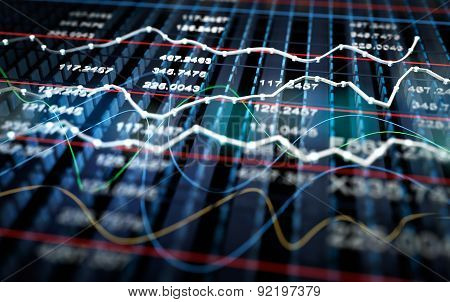 Stock Exchange Graph Background