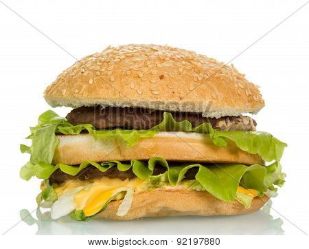 Tasty hamburger sandwich