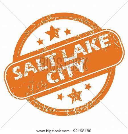 Salt Lake City round stamp