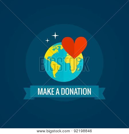 Charity and donations icon