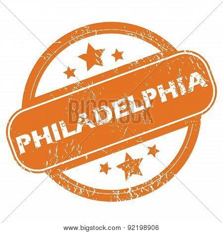 Philadelphia round stamp
