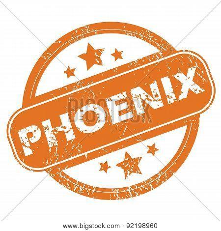 Phoenix round stamp