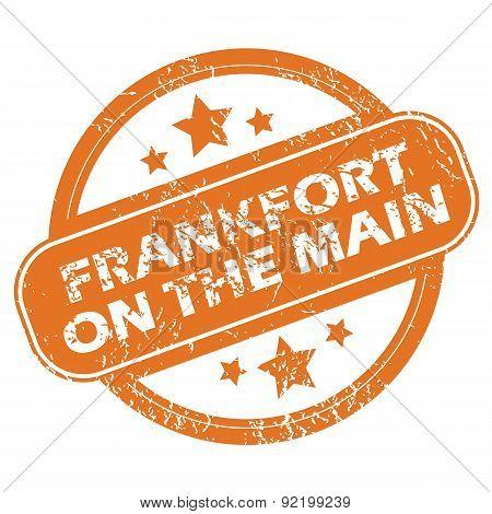 Frankfort on Main round stamp